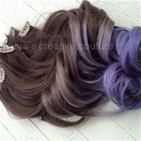 festival gradient color ponytail 20 quot dip dye clip peacock feather hair extensions peacock from ninas creative