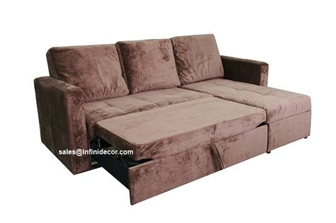 pull out sofa chaise chocolate sectional sofa bed with storage chaise couch