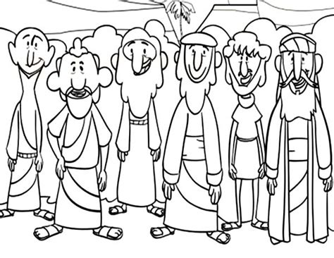 Jesus 12 Disciples Coloring Page Sketch Coloring Page Jesus And Disciples Coloring Page