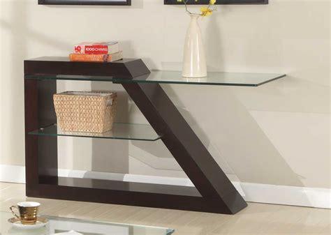 contemporary glass sofa table homelegance sofa table espresso 3422 05