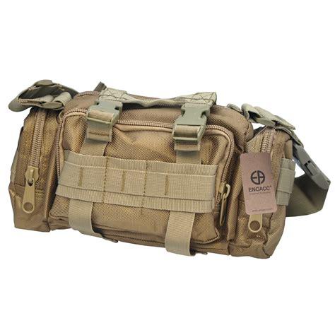 encacc tactical waist pack belt bag pack brown