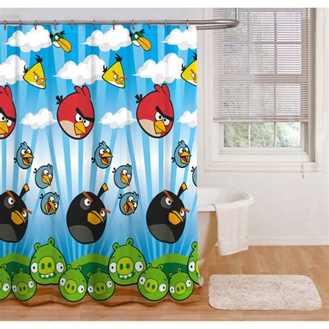 walmart bird shower curtain angry birds shower curtain walmart com