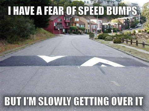 Speed Bump Meme - fear of speed bumps funny pics memes captioned