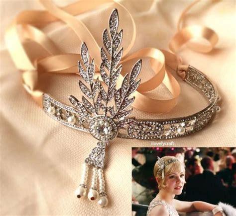 Diy Vintage Wedding Hair Accessories by Great Gatsby Headband Forehead Band 1920s Flapper Wedding