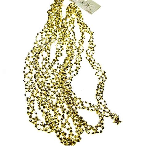 gold diamond bead garland 2 7m party decorations and