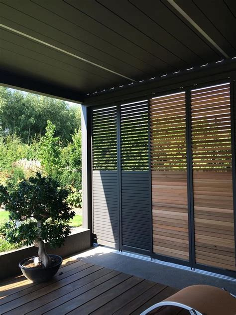 Camargue Patio Cover With Loggia Privacy Sliding Panels By Patio Privacy Shades