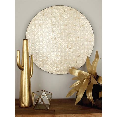 decorative sculptures for the home 27 in x 27 in rustic mother of pearl wall decor 41121