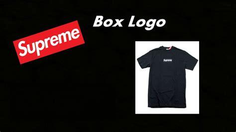 Kaos Supreme Logo Box 23 black on black supreme box logo