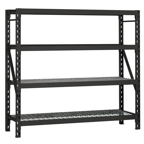 garage shelving units husky 77 in w x 78 in h x 24 in d steel garage shelving unit erz782478w 4 the home depot