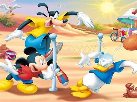 mickey mouse goofy  donald duck beach volleyball hd wallpapers  wallpaperscom