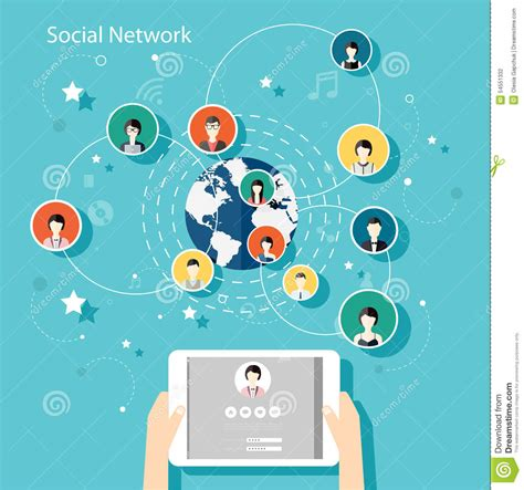 home design social network social network vector concept flat design illustration