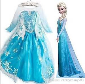 best frozen dress for girls photos 2017 blue maize