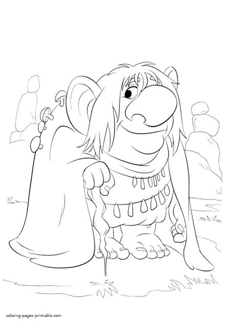 frozen troll coloring page frozen troll coloring page
