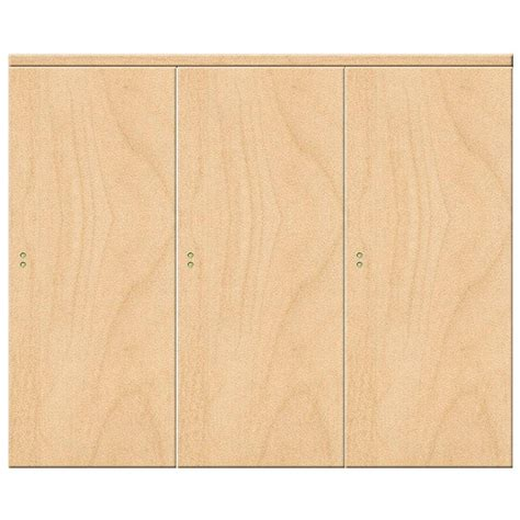 Maple Interior Door Impact Plus 108 In X 80 In Smooth Flush Stain Grade Maple Solid Mdf Interior Closet