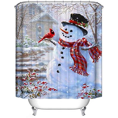 amazoncom snowman christmas snowman shower curtain sets comfy