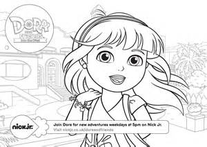 dora and friends coloring pages in the city sketch