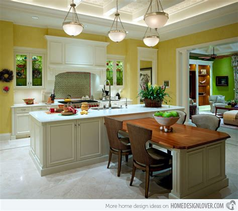 Kitchen Island With Attached Table | 15 beautiful kitchen island with table attached fox home