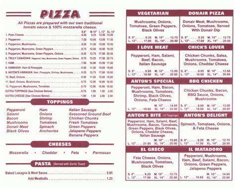 pizza restaurant menus upload photos for url - Pizza Dinner Menu
