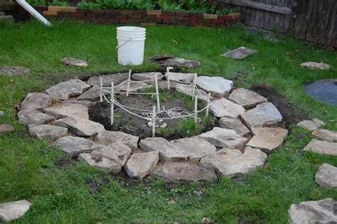 building firepit building an inground pit pit design ideas