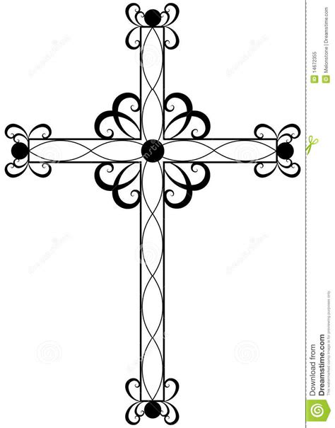clipart religiose traditional ornate religious cross stock vector