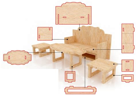 casas de muebles muebles para casa de mu 241 ecas mdf kit de muebles miniatura