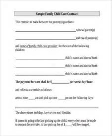 Exles Of Daycare Contracts by Sle Daycare Contract Forms 9 Free Documents In Word Pdf