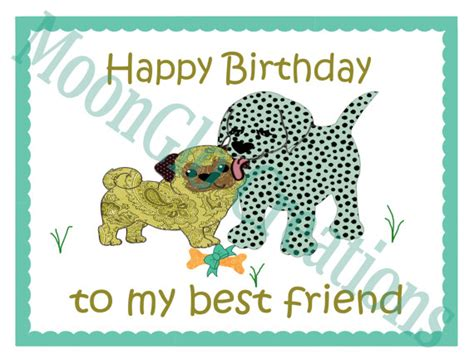Happy Birthday To My Best Friend Card Happy Birthday To My Best Friend Tent Fold Birthday