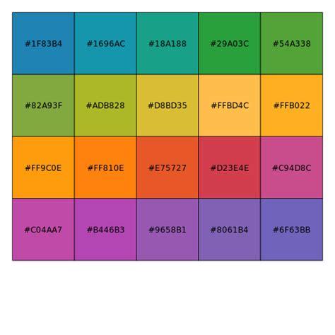 color pal color palettes based on tableau discrete all your