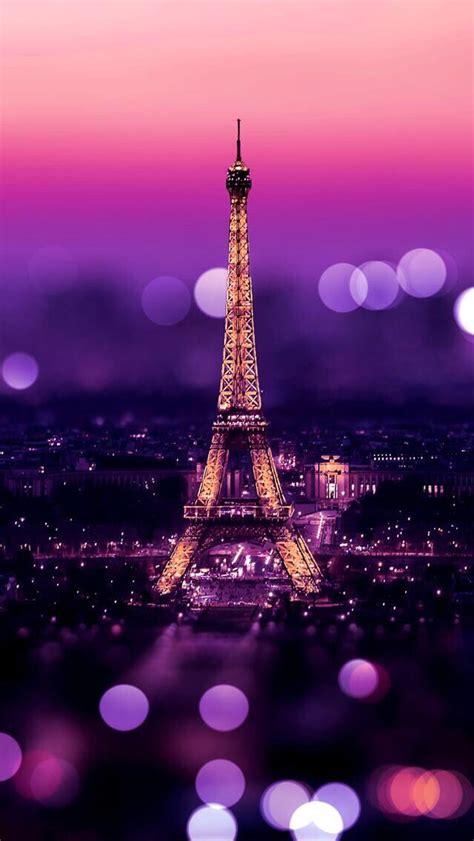 wallpaper pink paris eiffel tower night bokeh lights iphone 5 wallpaper