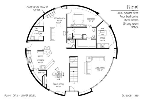 monolithic dome homes floor plans floor plan dl 5008 monolithic dome institute
