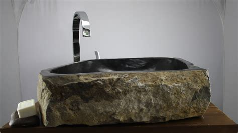 waschbecken aus stein waschbecken aufsatz stein naturstein marmor findling