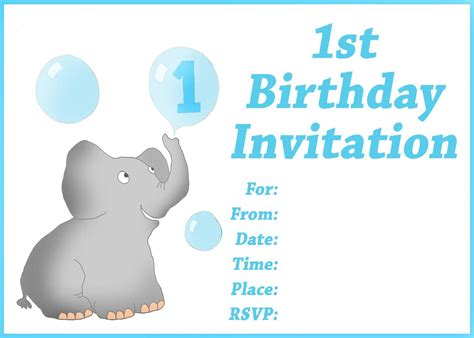 free birthday invitation templates for 1 year birthday invitation card free printable 1st birthday