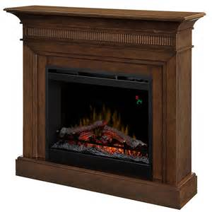 electric fireplace with mantle harleigh electric fireplace mantel package in walnut