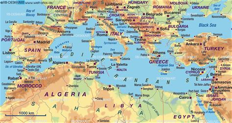 map of mediterranean map of mediterranean sea several countries map in the