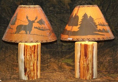 custom rustic log lamps   rustic woodshop