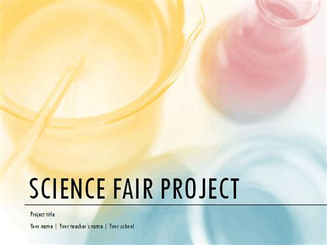 science fair powerpoint template all templates free powerpoint templates