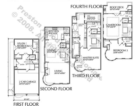 4 bedroom townhouse floor plans 102 best images about townhouse floor plans on pinterest