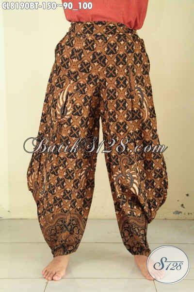 Celana Kulot Batik Sogan Motif Panjang Bahan Lembut Dan Murah celana kulot bahan batik desain terkini hadir dengan bahan halus motif klasik di lengkapi karet
