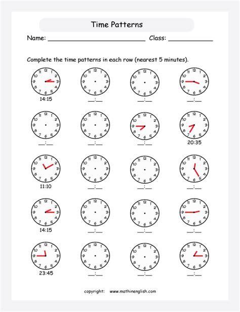 clock worksheets nearest 5 minutes math worksheets telling time 5 minutes telling time to 5
