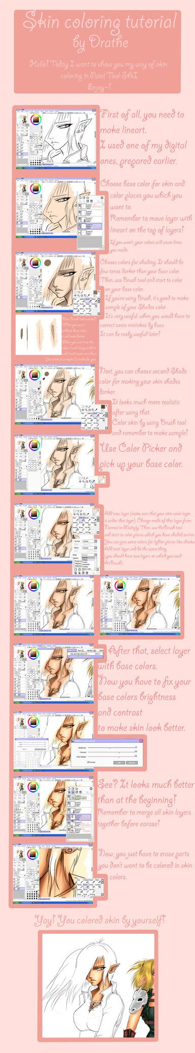 coloring anime with paint tool sai tutorial sai skin coloring tutorial by drathe on deviantart