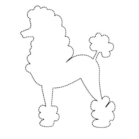 poodle template free poodle coloring pages az coloring pages