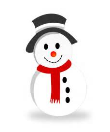 You can use this cute little snowman clip art on your christmas cards