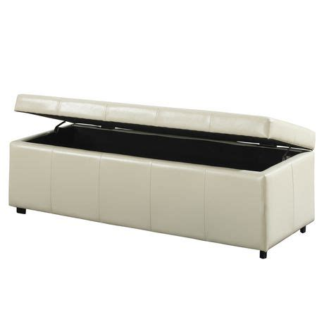 Wyndenhall Cambridge Large Rectangular Storage Ottoman Walmart Ca Ottoman