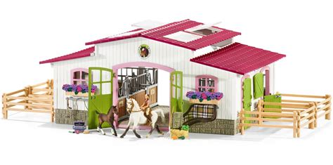schleich teppich schleich stable with horsewoman horses and