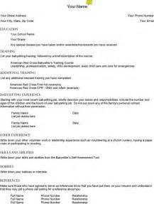 Babysitting Resume Templates by Babysitting Resume