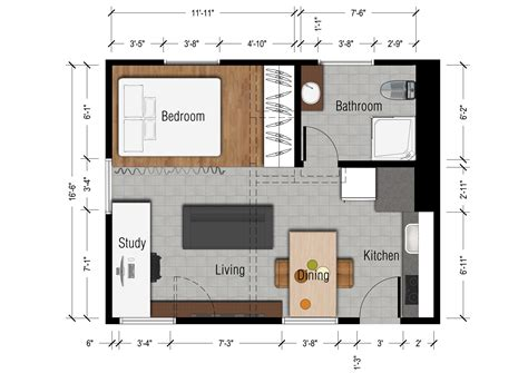 Tiny Apartment Floor Plans by Studio Apartments Floor Plan 300 Square Location