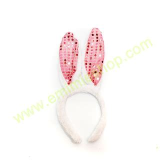 Bando Kuping Glitter bando kelinci taksesoris props photobooth toko shop