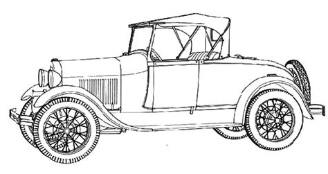 coloring page of model t car model t car coloring page sketch coloring page