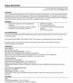 Enforcement Cover Letter Exles by Cover Letter Enforcement Resume Exle Writing Sle