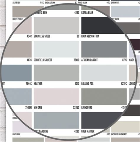 paint shades of grey 50 shades of grey artistic color palettes pinterest